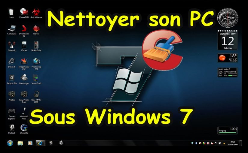 Comment nettoyer son pc windows 7 ?
